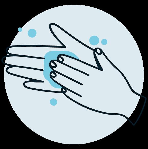 Lavarse las manos antes de tomar la muestras de anticuerpos utilizando la lanceta del test ELISA