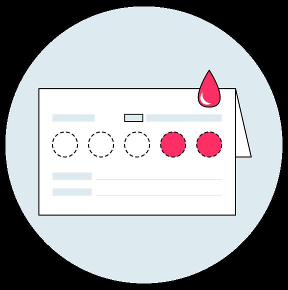 Tarjeta recolectora de sangre de test de anticuerpos cuantitativo de coronavirus mediante elisa