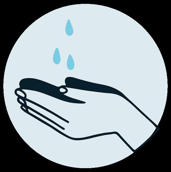 Limpiar dedo con alcohol o jabón tras tomar la muestra