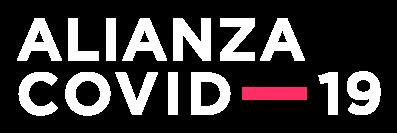 Logotipo Alianza COVID-19 blanco