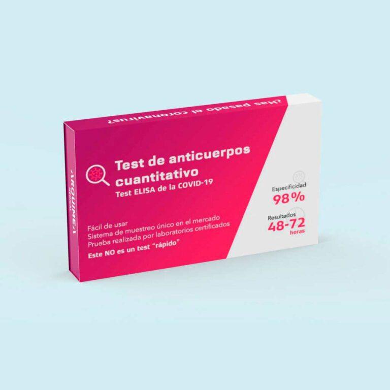 Test de anticuerpos de coronavirus resultados en 48 - 72 horas